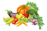 Tasty vegetables illustration — Stock Vector