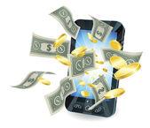 Money mobile phone concept — Stock Vector