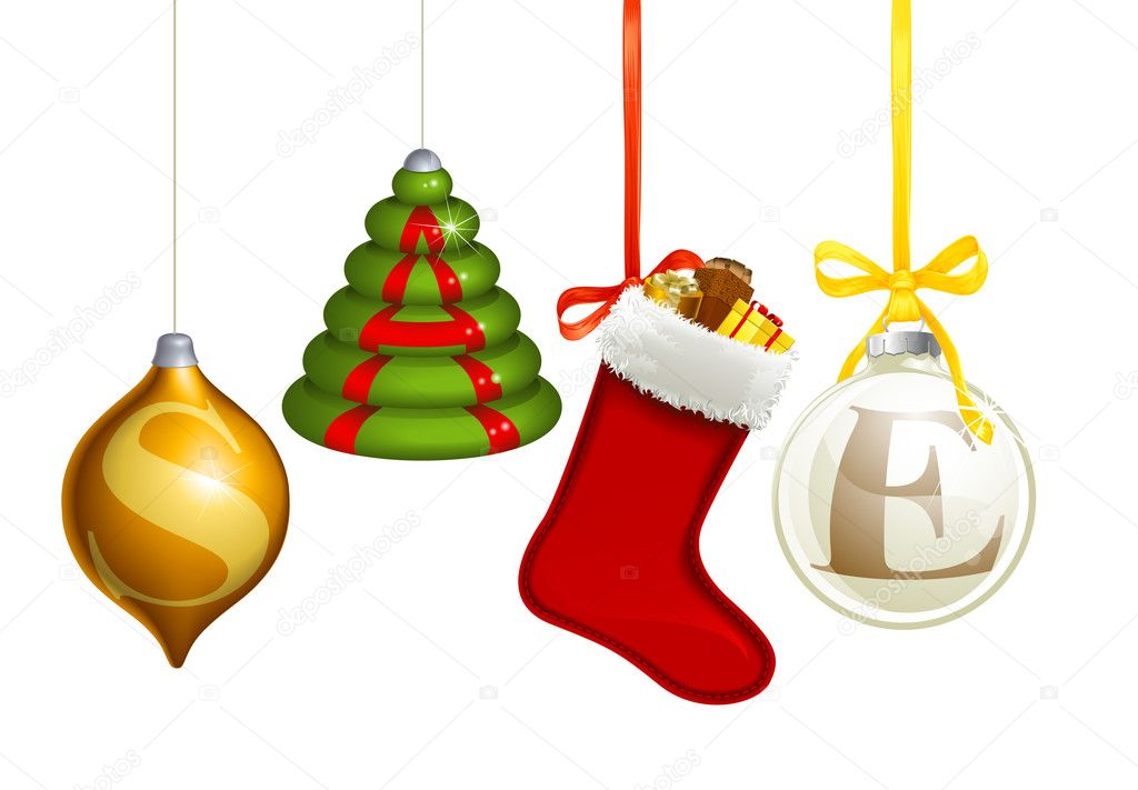 Sale christmas decorations stock vector krisdog 7471440 for Christmas decorations sale online