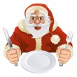 Santa Claus seated for Christmas Dinner — Stock Vector #7497724