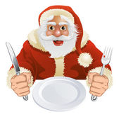 Santa Claus seated for Christmas Dinner — Stock Vector