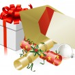 Christmas letter or invite scene — Image vectorielle