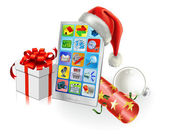 Christmas Mobile Phone — Stockvector