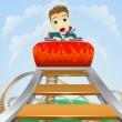 Business roller coaster ride concept — Stock Vector
