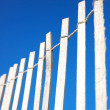 Bleached wooden Fence - Stock Photo