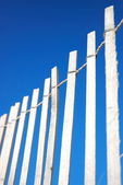 Bleached wooden Fence — Stock Photo