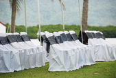 Wedding chair setup — Stock Photo
