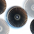 ストック写真: Turbine On White Background With Spin Direction Symbol