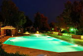Pool At Night — Stock Photo