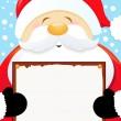 Santa Holding Blank Sign — Stock Vector #7471426
