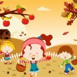 Vector de stock : Happy Harvest
