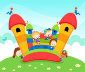 Jumping Castle — Stock Vector