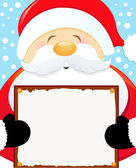 Santa Holding Blank Sign — Stock Vector