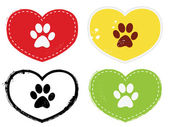 Paw Print Icons — Stock Vector