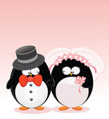 Married Penguins — Stock Vector