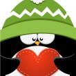 Stock Vector: Big Penguin Love