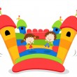 Stock Vector: Jumping Castle