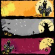Halloween Banners — Vector de stock #7573424