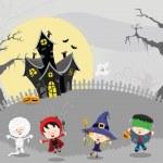 Happy Halloween Kids — Stock Vector