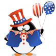 Stock Vector: Patriotic Penguin