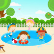 Royalty-Free Stock Vector Image: Kids In The Swimming Pool