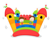 Jumping Castle — Vettoriale Stock