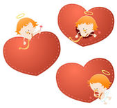 Cute Little Cupids — Vector de stock