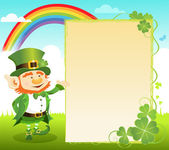 St. Patrick's Day Message — Stock Vector
