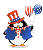 Patriotic Penguin — Stock Vector