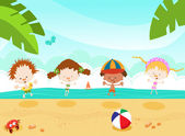 Summer Kids — Stock Vector
