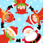 Santa's Christmas Party — Stock Vector