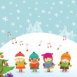 Stock Vector: caroler kids