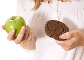 Apple and cookie — Stock Photo