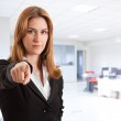 Businesswoman pointing at you — Stock Photo #6960558