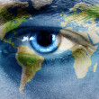 World eye - Stock Photo