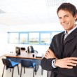 Mature businessman smiling — Stock Photo