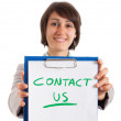 Contact us - Foto de Stock  