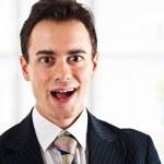 Surprised businessman — Stock Photo