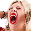 Screaming girl - Stock Photo