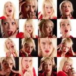 collage van gezichtsuitdrukkingen — Stockfoto