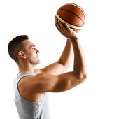 Basketball player portrait — Stock Photo
