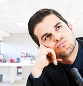 Bored businessman — Stock Photo
