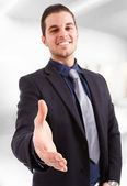 Handshake di uomo d'affari — Foto Stock