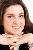 Young businesswoman smiling — Stock Photo