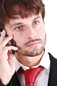 Businessman cell phone — Foto de Stock