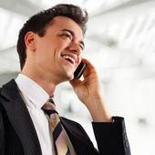 Businessman at phone. — Stock Photo