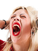 Screaming girl — Stock Photo