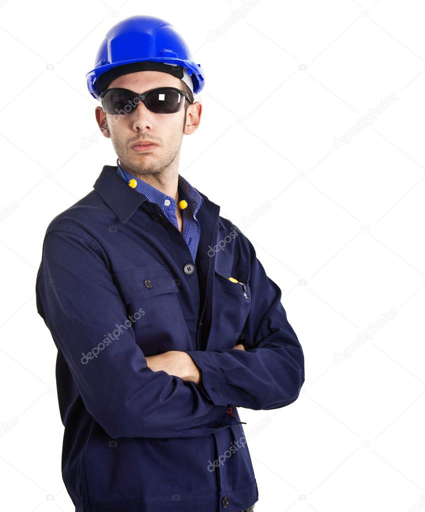 Portrait of an engineer  Stock Photo #6960327