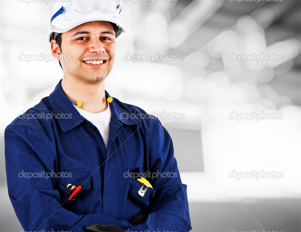 Portrait of an handsome engineer — Stock Photo #6969840