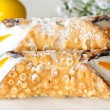 "Typical italian dessert called ""cannolo"" - Stock Photo"